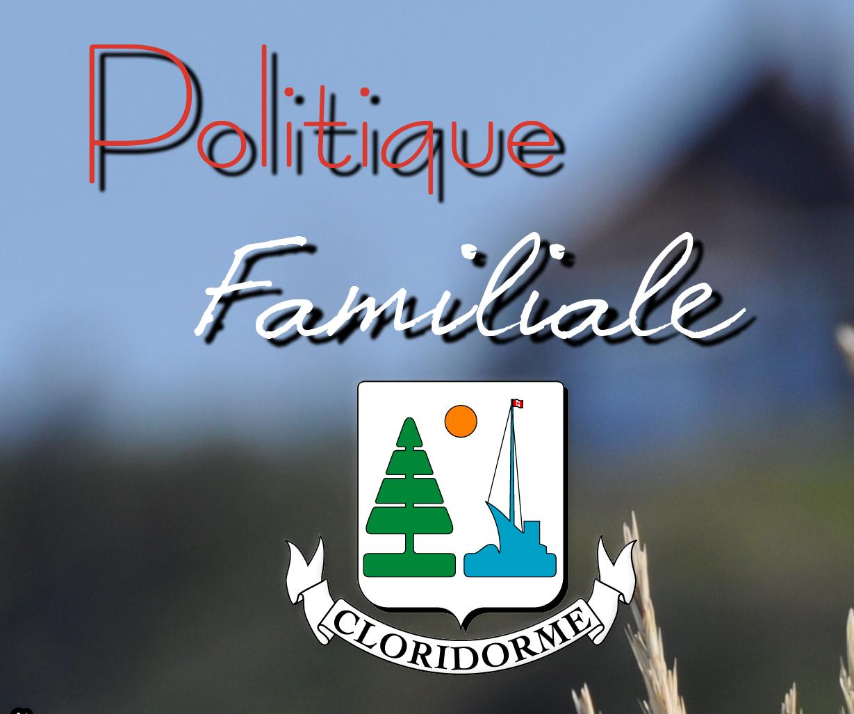 Politique familiale de la Municipalité