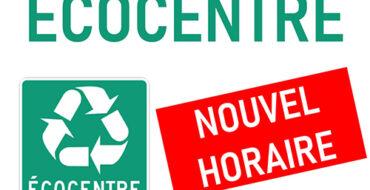 OUVERTURE DE L'ÉCO-CENTRE MERCREDI 26 MAI DE 13H00 À 16H15 ( A TOUS LES MERCREDIS)